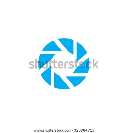 A Blue Icon Isolated on a White Background - Shutter