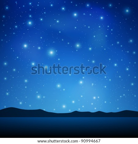 a blue night sky with lots of