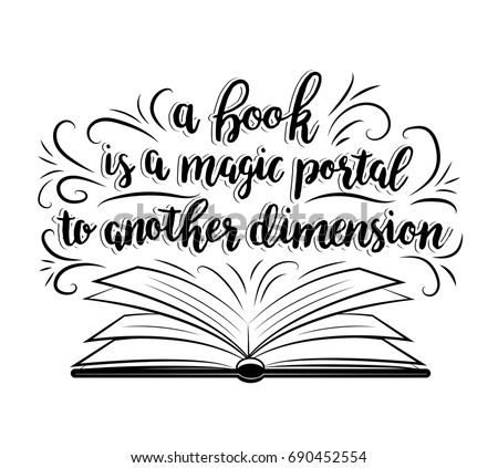 a book is a magic portal to