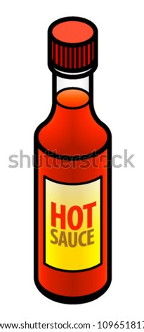 A bottle of hot chili sauce.