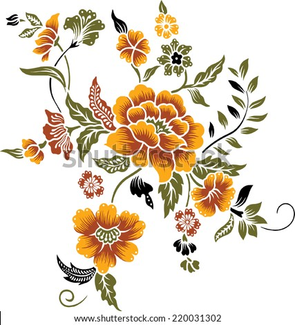 a bouquet of orange flower
