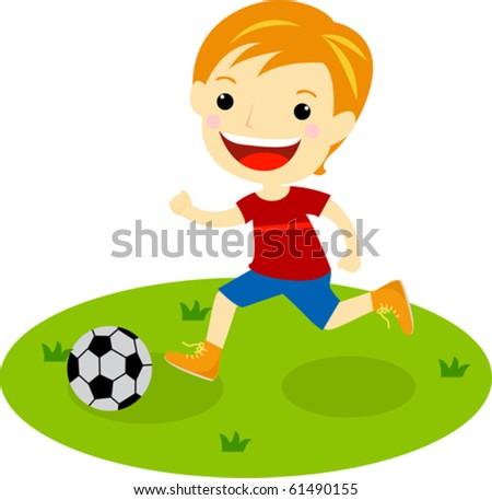a boy with a football
