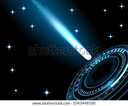 a bright comet  a meteor  a