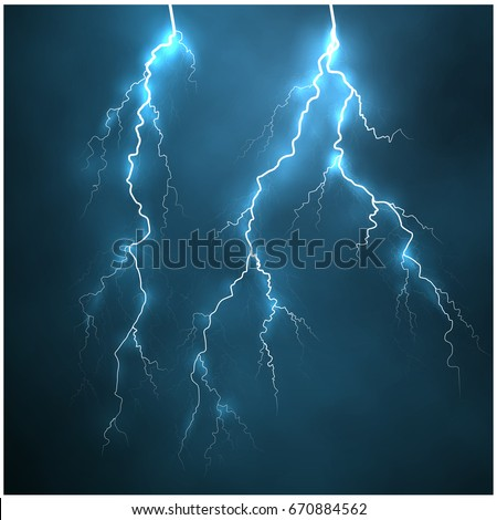 a bright lightning in the dark