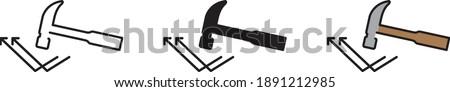 A broken Hammer symbolising Indestructible, vector icon  Stock photo ©