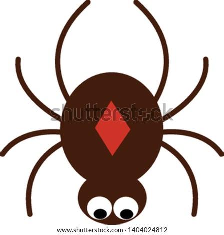 a brown cartoon spider has a
