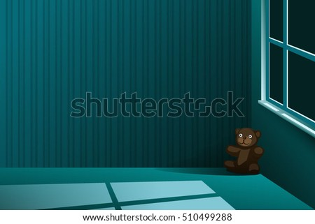 a brown teddy bear left alone