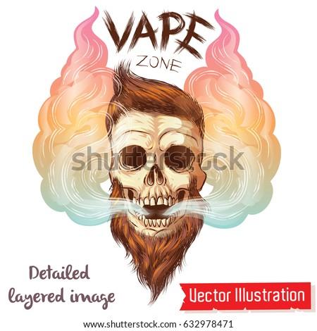 a brutal hipster's skull in