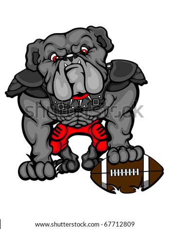 Bulldog Football Clip Art A Wearing