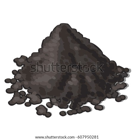 A bunch of soil isolated on white background. Vector cartoon close-up illustration.  商業照片 ©