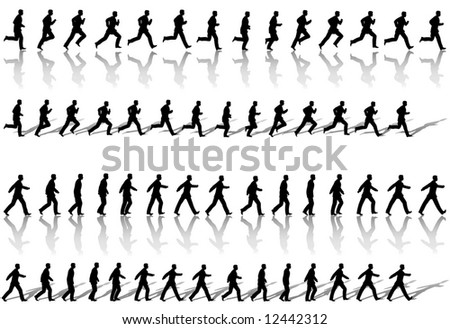 sequence - person walking - Download Free Vector Art, Stock Graphics ...