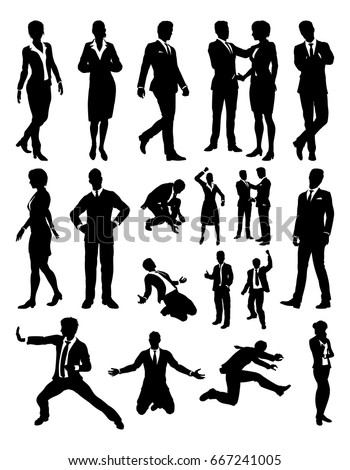 A business people silhouettes set Stock photo ©