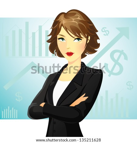 a business woman wearing a suit