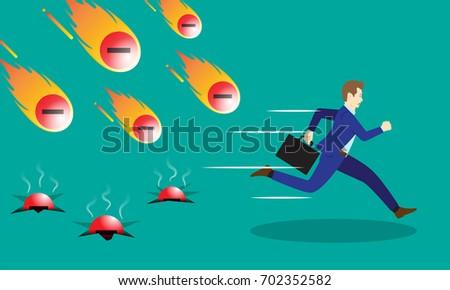 a businessman is running
