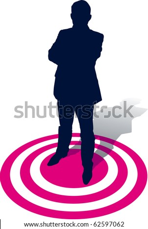 A businessman selected, conceptual business illustration.