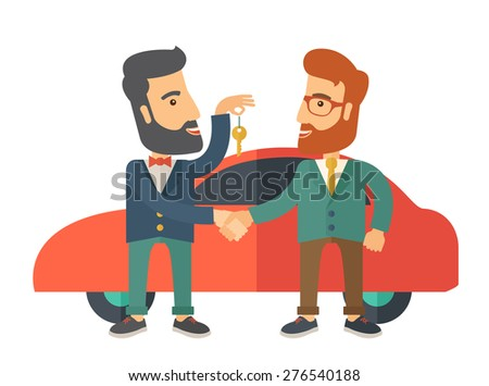 a car sale handed to other man