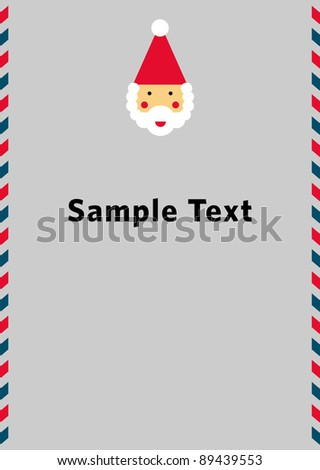 A card with Santa Claus