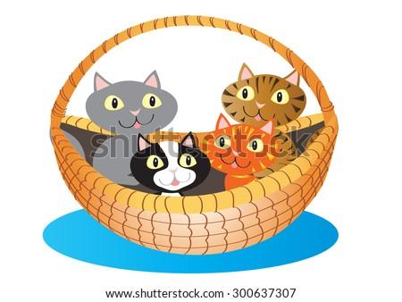 a cartoon basket a cute little