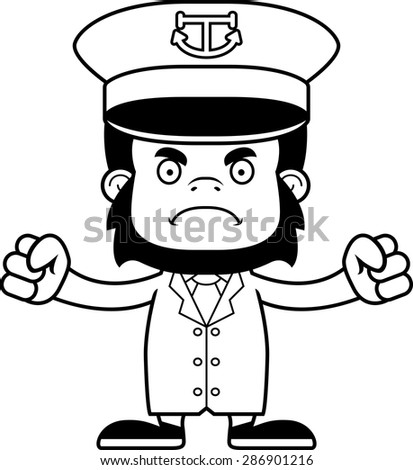 a cartoon boat captain gorilla looking angry ez canvas Dog Clip Art a cartoon boat captain gorilla looking angry