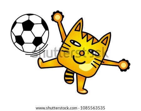 a cartoon cat juggles with a