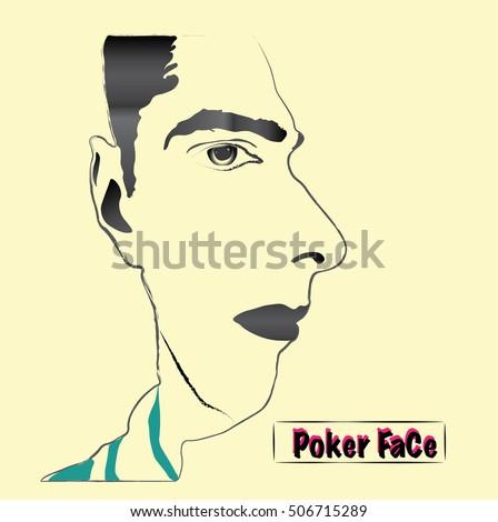 A cartoon face illusion. Vector illustration