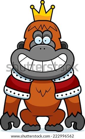 Orangutan King of a orangutan king with a