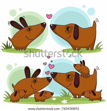 a cartoon illustration of love