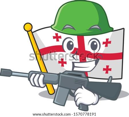 a cartoon style of flag georgia