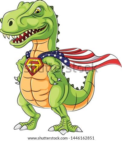 a cartoon superhero dinosaurs