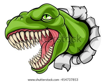 a cartoon t rex tyrannosaurus