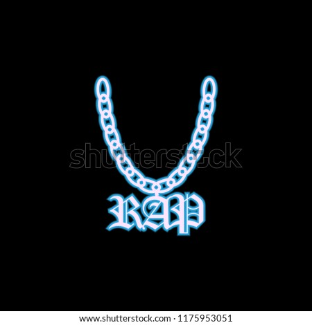 a chain with a symbol of rap