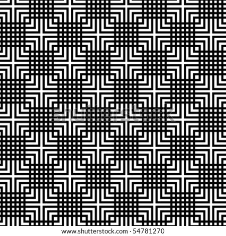 A checkered, vector pattern in black and white.