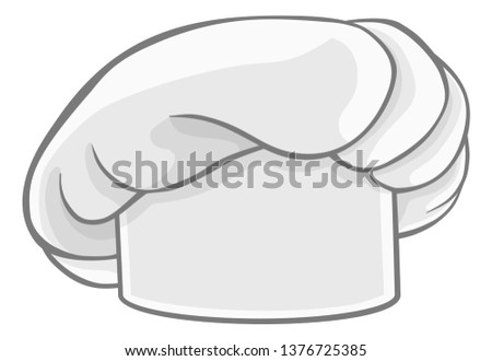 A chef cook or baker uniform white hat graphic Foto d'archivio ©