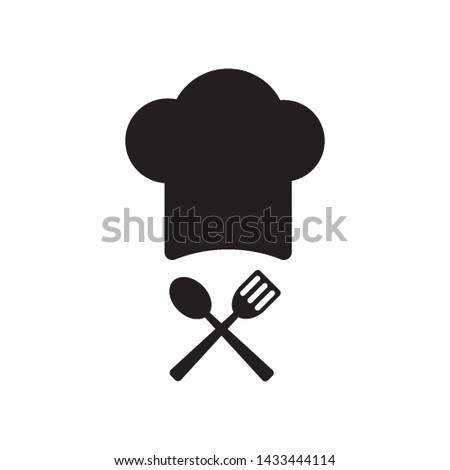 a chef's hat icon vector design template Stock fotó ©