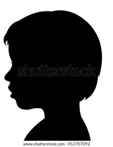 a child silhouette vector
