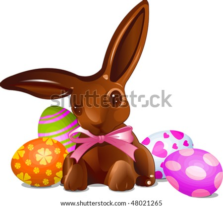 easter bunnies eggs. unny with Easter Eggs