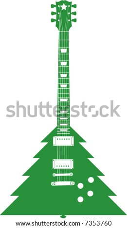 A Christmas tree Guitar
