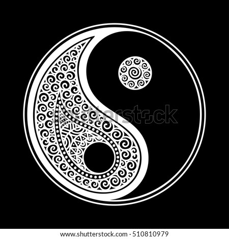 Royalty free yin yang decorative symbol hand drawn for Architecture yin yang