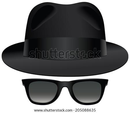 a classic set of black fedora
