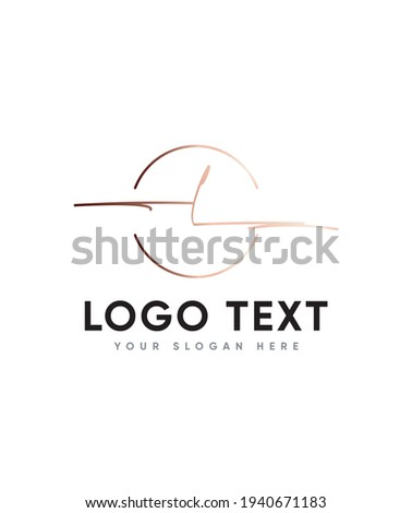 A clean lovely flow and smooth vibe stylish letter type L logo template, Vector logo for business and company identity Stock fotó ©