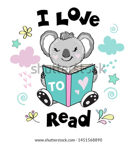 a clever koala is reading a