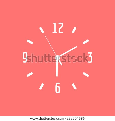 A clock face vector icon .
