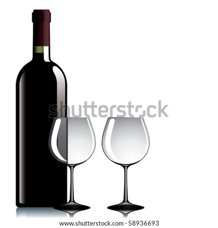 A closed bottle of wine.