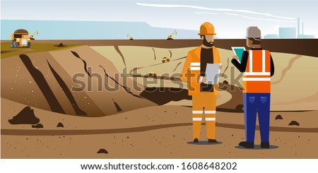 a coal mining place on a sunny