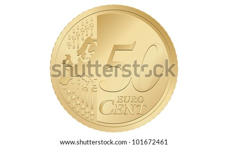 a coin of 50 euro cent