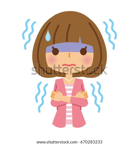 A cold and trembling woman. Stock photo ©