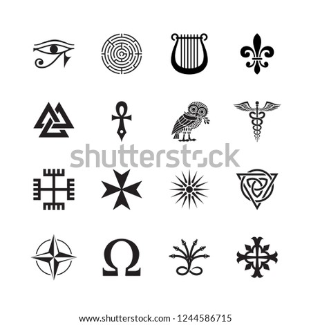 A collection of ancient symbols. #1244586715