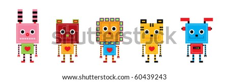 a collection of animal robot