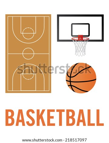 a collection of basketball