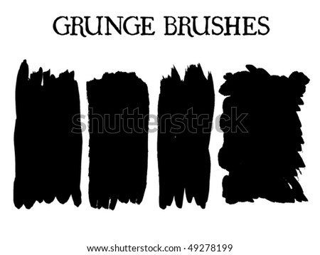 A collection of 4 brush strokes. You'll find more design elements in my portfolio!